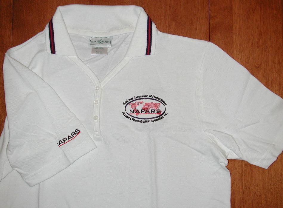 White Polo shirt with NAPARS logos